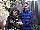 Welsh corgi cardigan puppy Zhacardi BOGDAN with his new owners