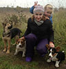 Welsh corgi cardigan puppy Zhacardi ASTRID with her owners