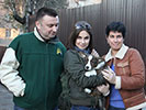 Welsh corgi cardigan puppy Zhacardi BRONESLAVA with his new owners